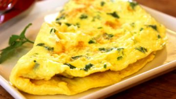 Omelette au fromage simple